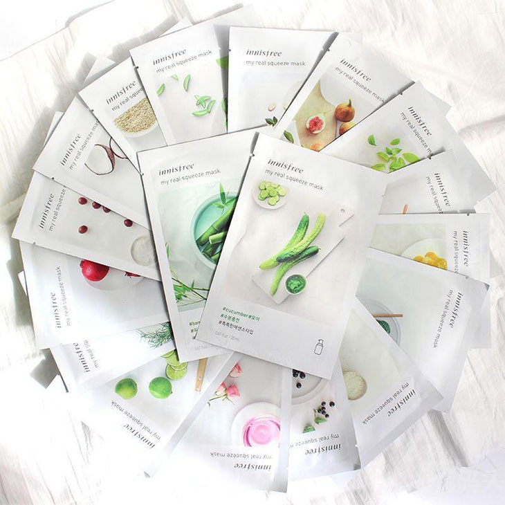 Innisfree My Real Squeeze Sheet Masks
